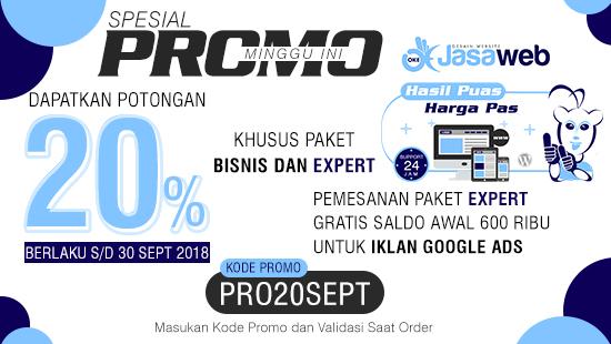 Promo Akhir Bulan, Berakhir Tanggal 30 Sepetember 2018