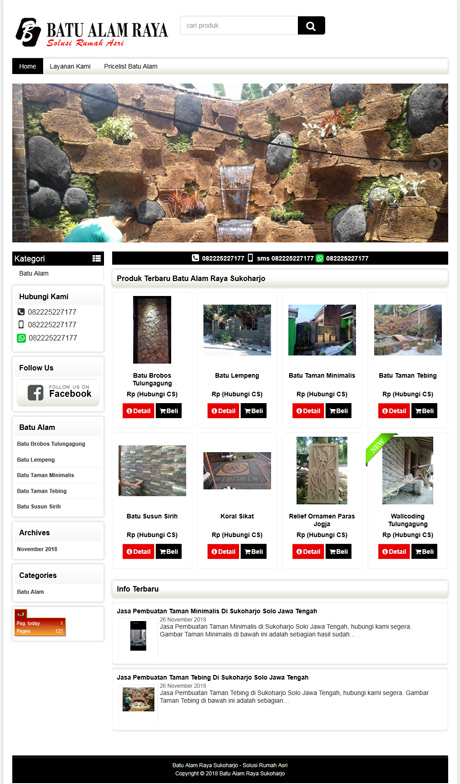 contoh website Batu Alam dari okejasaweb jasa website toko online