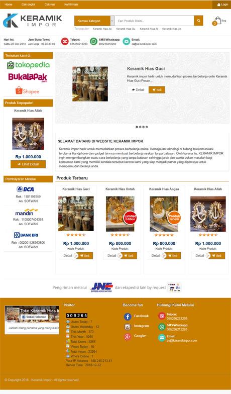 contoh website keramik guci dari okejasaweb jasa website toko online