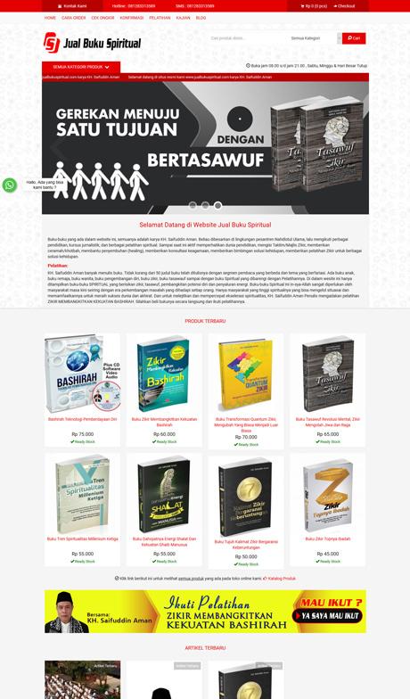 contoh website toko buku dari okejasaweb jasa website toko online