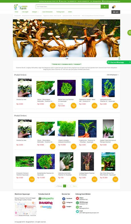 contoh website toko tanaman dari okejasaweb jasa website toko online