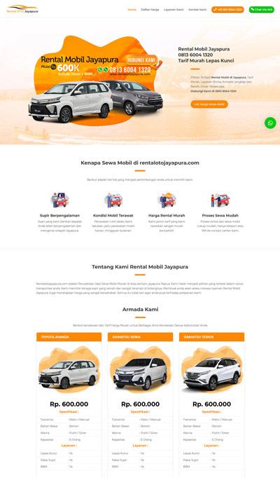 Contoh Website Rental Mobil Dan Travel Okejasaweb Com