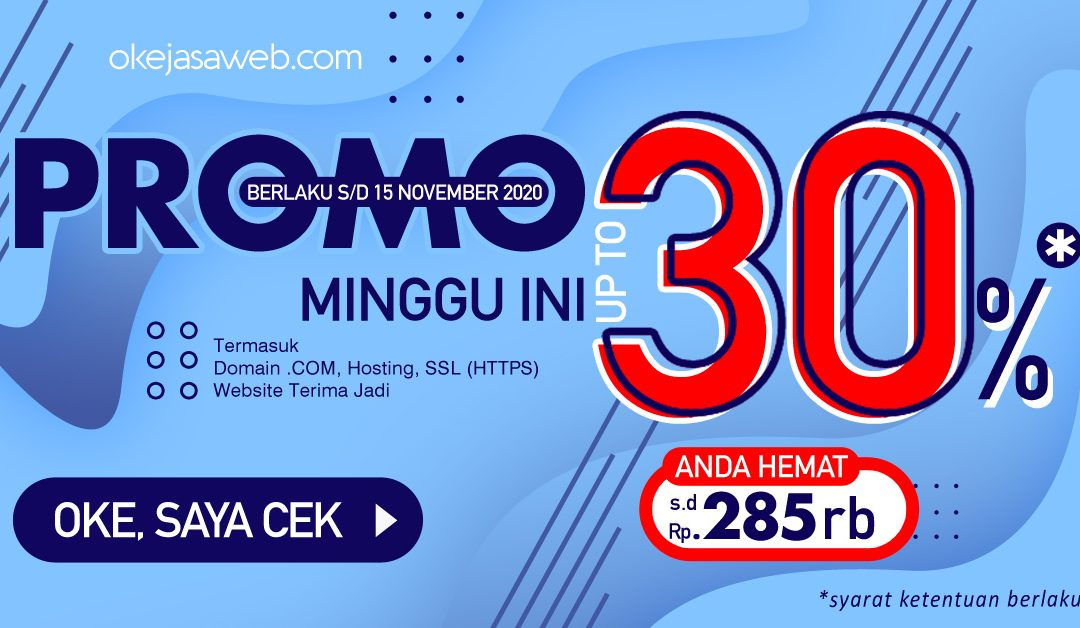 Promo Terbatas November 2020, Diskon up to 30%