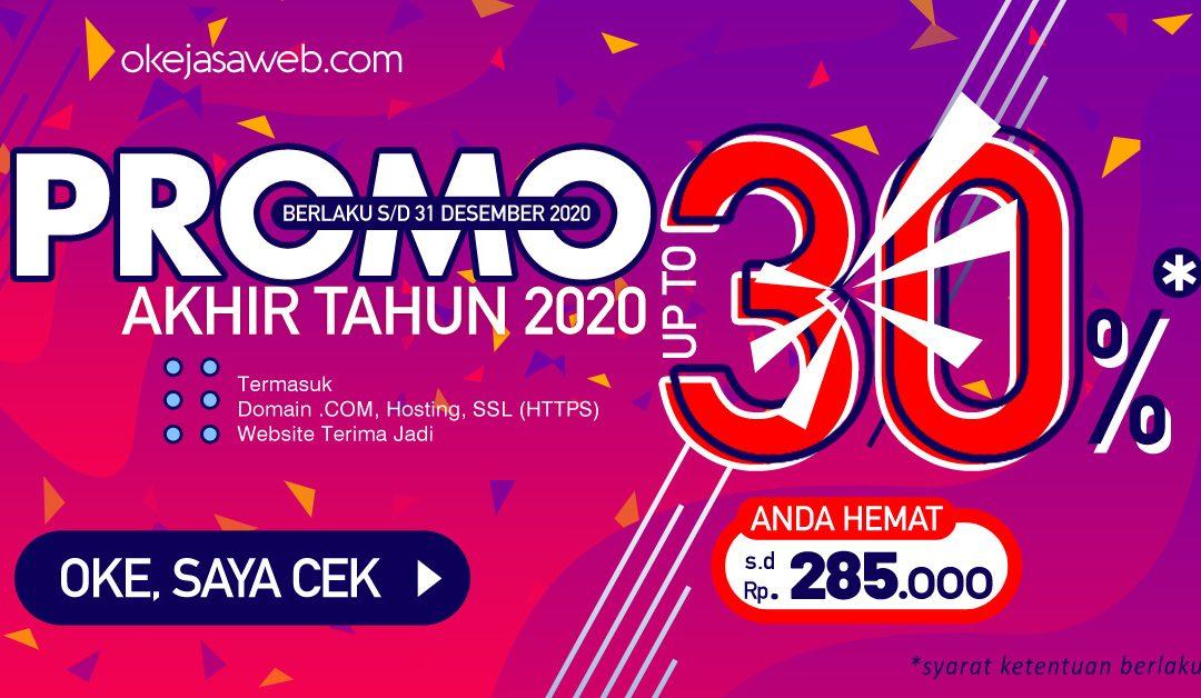 Spesial Promo Akhir Tahun 2020, Diskon up-to 30%